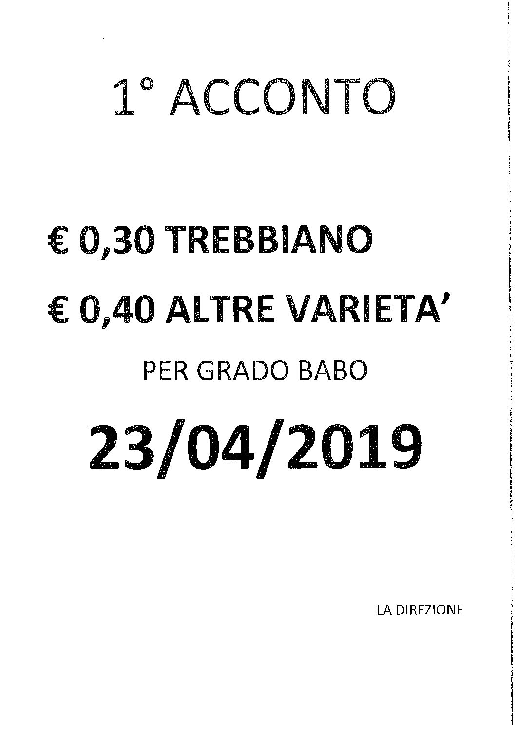 1 ACCONTO VENDEMMIA 2018