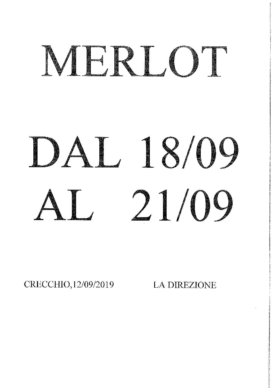 AVVISO RACCOLTA MERLOT